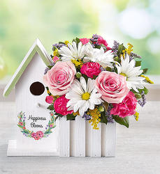 Happiness Blooms Birdhouse - Pink Flower Power, Florist Davenport FL